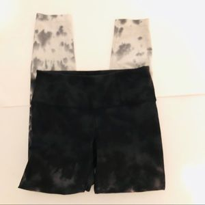 Ideology Tie Dye Leggings Black White Size XS